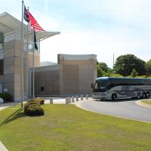 Bus at Airborne Special Operations Museum