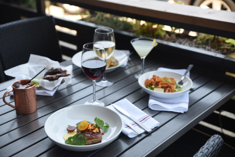Great apps on a great patio!