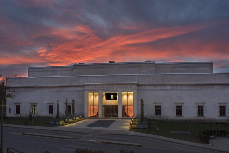 Spencer Museum sunset