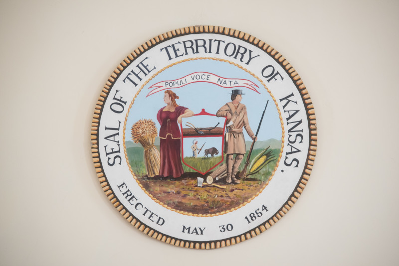 Lecompton Seal--Territorial Capital
