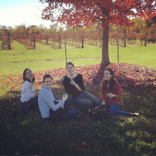 Friends at Bluejacket Crossing Vineyard and Winery