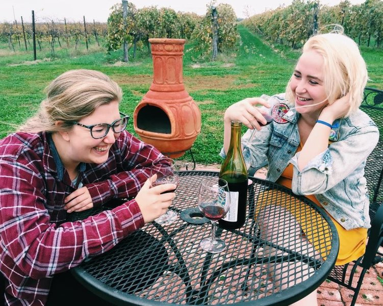 Friends at Davenport Orchards