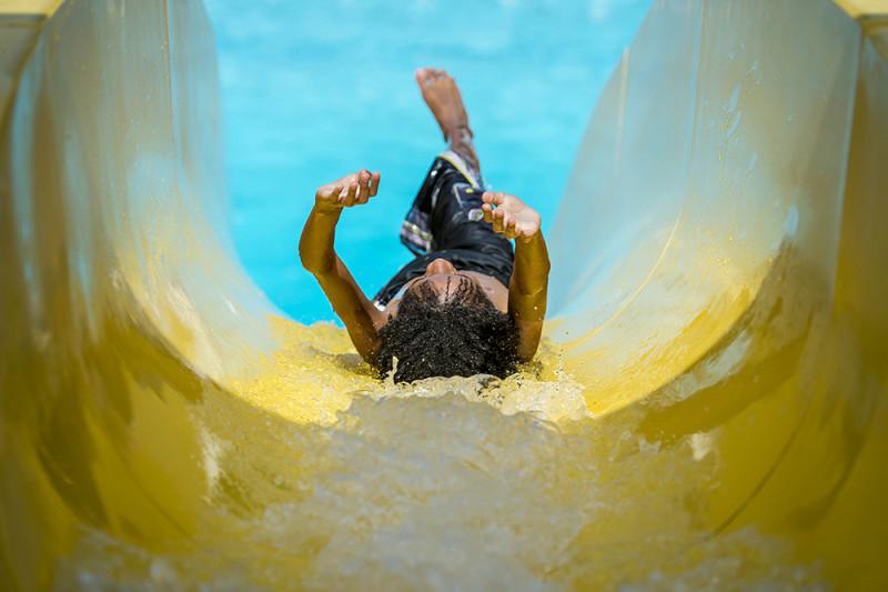 Slide Into Pool