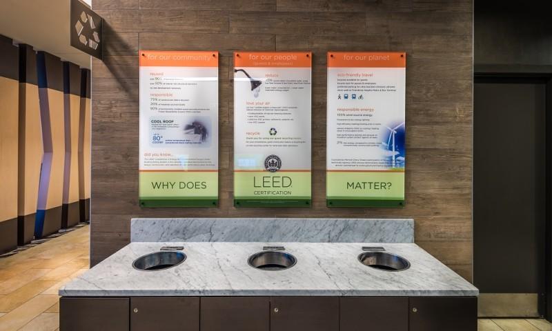 Lobby Recycling Center