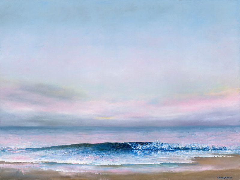 Beach Pinks at Dusk, oil by Claire Howard