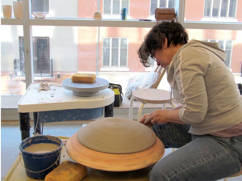 VisArts Ceramic Student At Work