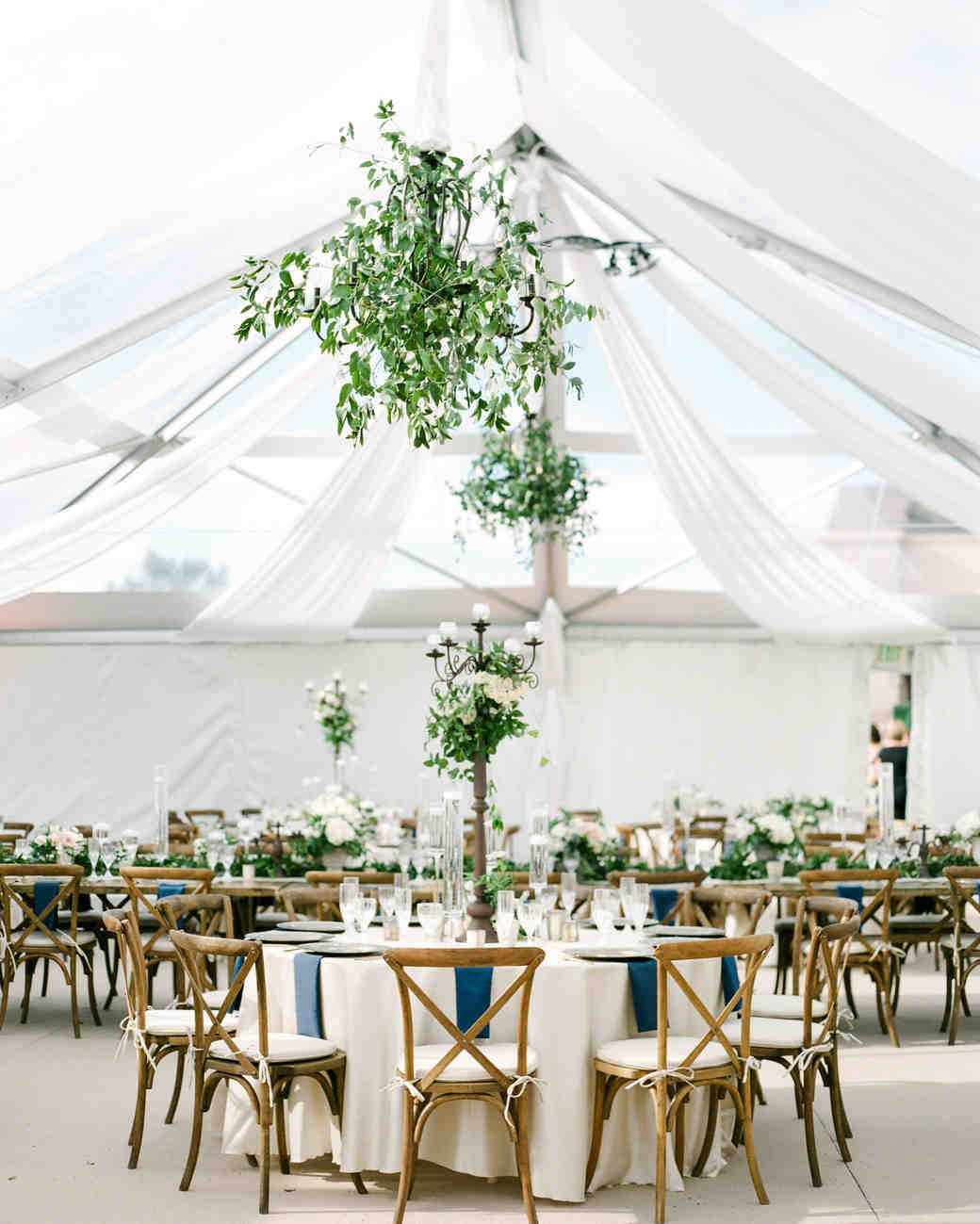 Talk to the tent rental company and let them know your decoration theme