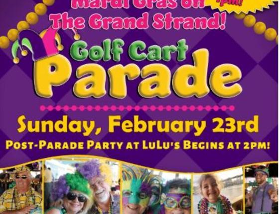 Lulu's Mardi Gras Golf Cart Parade
