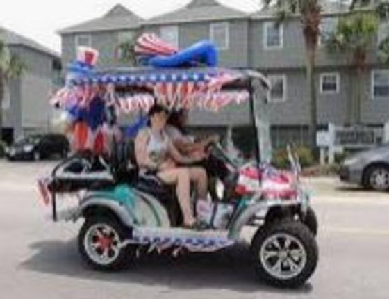 Independence Day Golf Cart Parade