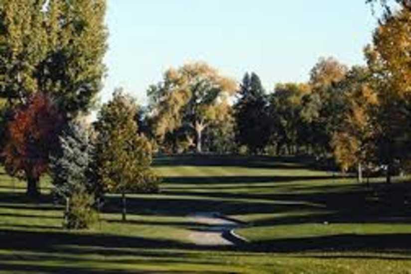 Sunset golf course green