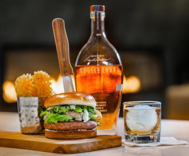 Bourbon Burger available in Greatroom & Bourbon Bar