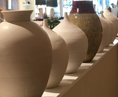 Watch potters create their work! !
