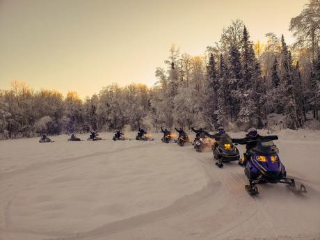 Snowmobile Tours in Willow and on the Iditarod Trail!