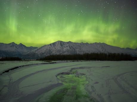 Aurora Borealis from Knik River Road