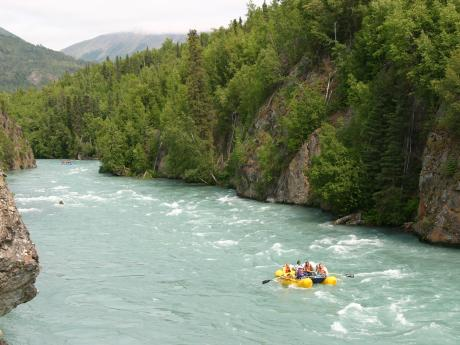 Rafting on the Kenai River