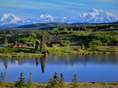 The Lodge and Denali in background