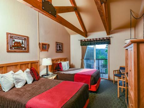Bluffs double guest room