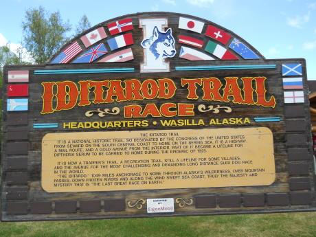 Iditarod HQ Sign