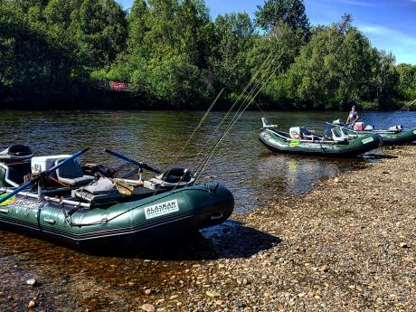 We do trips for rainbow, grayling and 4 species of salmon