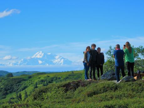 Taking Photos Of Denali From The Lodge Property