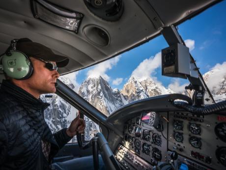 Expert pilot in flight!