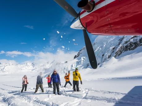 Family Fun on the Ruth Glacier