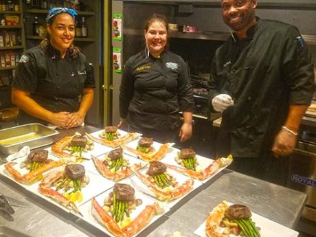 Our talented chef teams goes over the top!