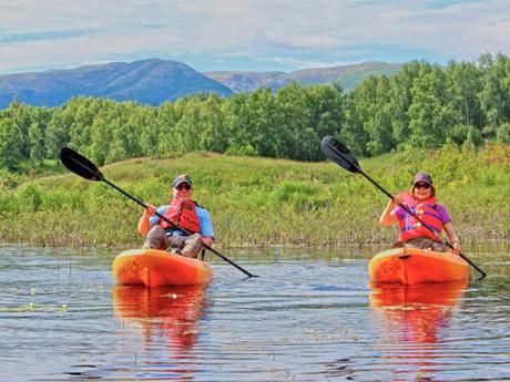 Wilderness Cabin Kayaking