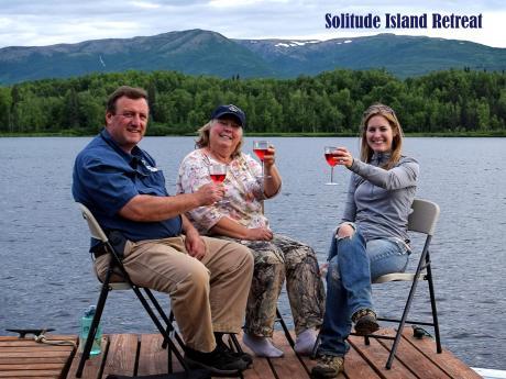 Happy hour at Solitude Island Retreat