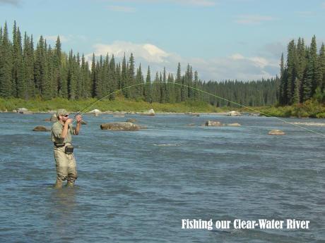 Remote Alaska river fishing