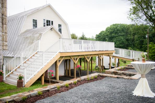 48 Fields Barn Exterior with Deck
