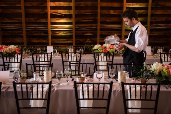 48 Fields Upper Level Barn Wedding Reception