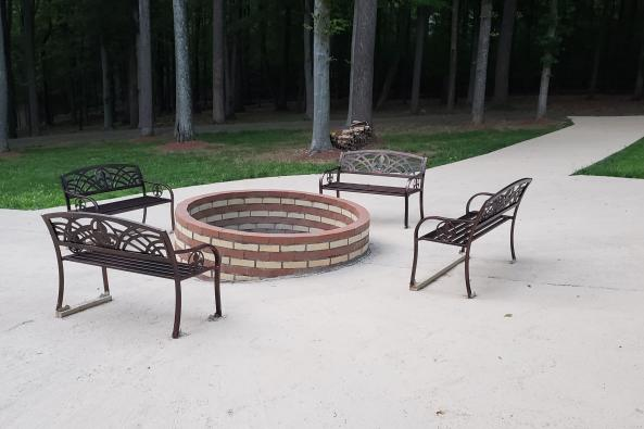 FIRE PIT AT THE MANOR