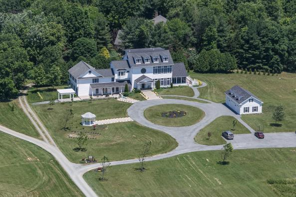 Aerial View of Loudoun Valley Manor B&B