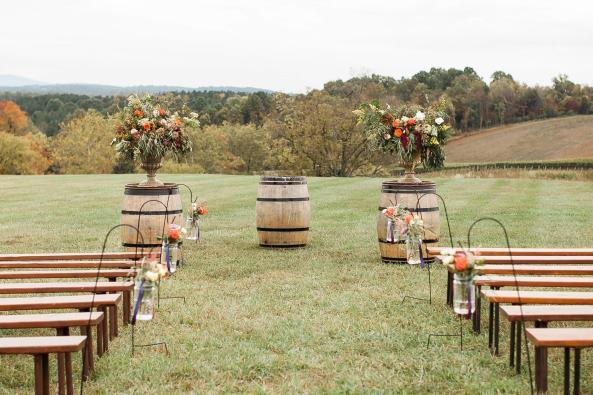 Hillside Ceremony-Wedding