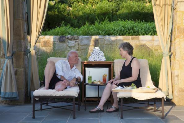 Couple relaxing at Spa Pool