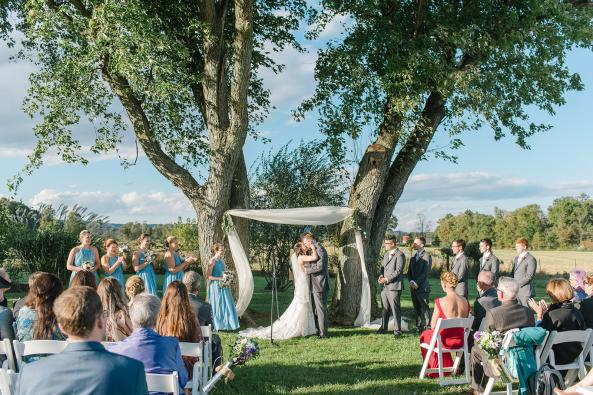John and Kelly's Ceremony under the Maple Trees