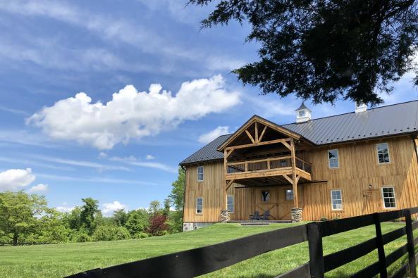 The Oak Barn at Loyalty Sign