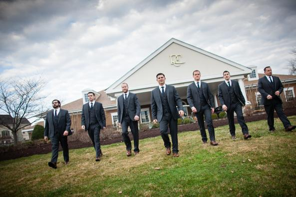 These groomsmen are on a mission to unite the groom and his bride.