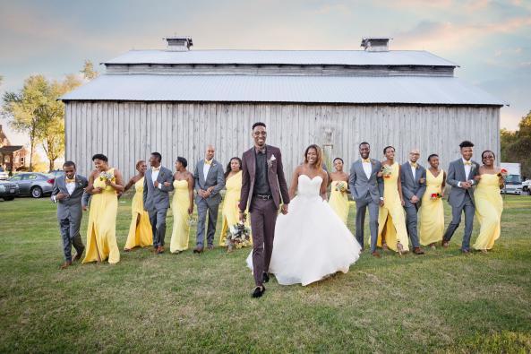 Bridal Party - Rustic Barn