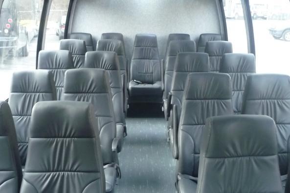 Interior of 23 passenger Executive bus