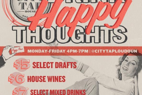 Happy Hour Specials M-F from 4pm to 7pm