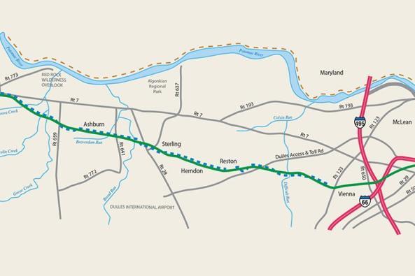 W&OD Trail Map