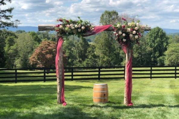 The Oak Barn Flower Archway