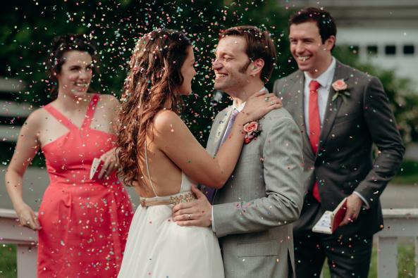 Backyard wedding celebration