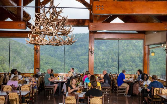 Elevated dining at Cliff Top