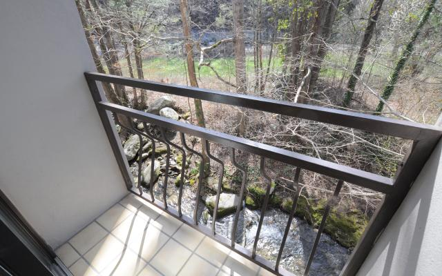 Creek side balcony