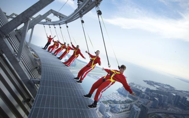 EdgeWalk at the CN Tower - World's Highest Outdoor Walk on a Building (Guinness World Record).