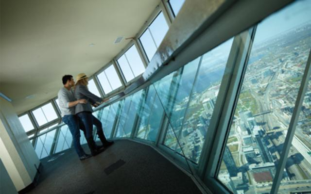 SkyPod - View at 447m Level at the CN Tower