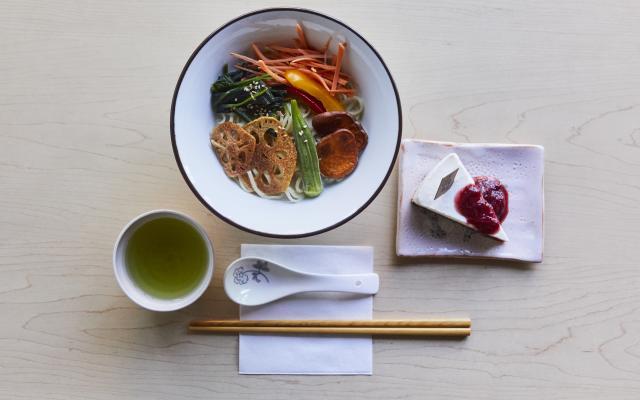 Kyoto White Miso Vegan Ramen and Yogurt Cheesecake